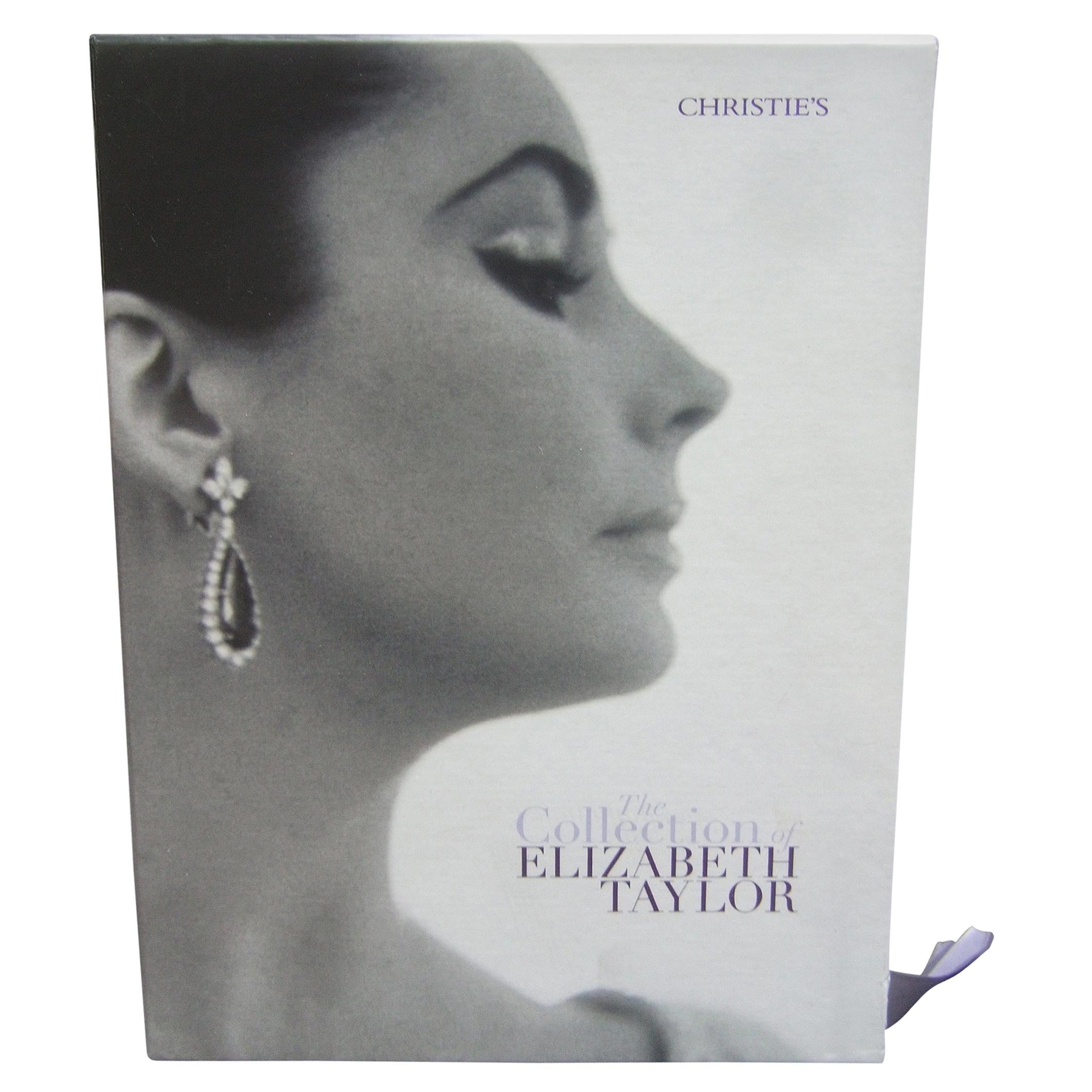 Elizabeth Taylor's Christies Auction Estate Set of Six Catalogs in Case