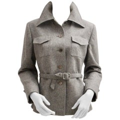 Grey Single-Breasted Vintage Jacket by Herbert Schill 1960s Vienna
