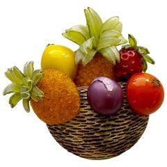 Cilea Paris Parisian Fruit Basket Pin