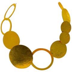 Herve Van Der Staeten Gold Circle Statement Necklace