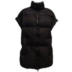 Maison Martin Margiela Black Quilted Polyamide Goose Down Vest Sz42, Us10