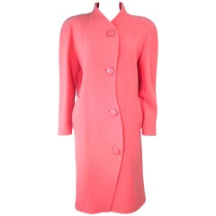 COURREGES Peach Coral Wool Coat Size 00