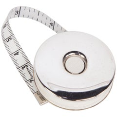 Sterling Silver Push Button Tape Measure