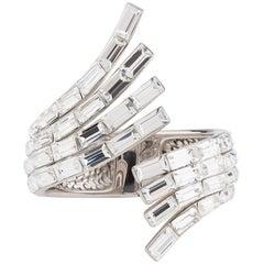 Giuseppe Zanotti Crystal Swan Wrap Around Evening Cuff Bangle Bracelet