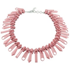 Christian Dior Pink Zipper Cursor Necklace