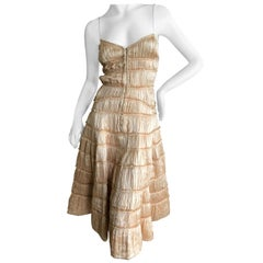 Isabel Toldedo Plisse Pleated Silk Cocktail Dress for Barney's NY NWT $3750