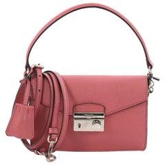d804f4d66a21ea Prada Convertible Sound Bag Saffiano Leather Mini. Prada Double Zip Lux Tote  ...
