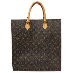 Louis Vuitton Sac Plat Monogram Large Tote Handbag