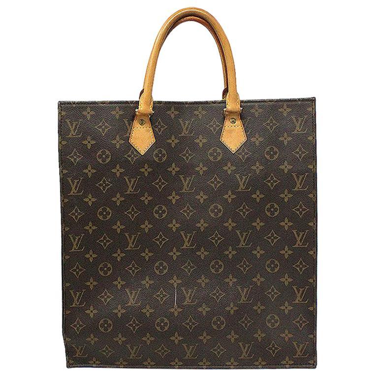 Louis Vuitton Sac Plat Monogram Large Tote Handbag