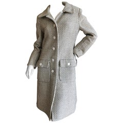Galanos Vintage 1969 Check Wool Coat
