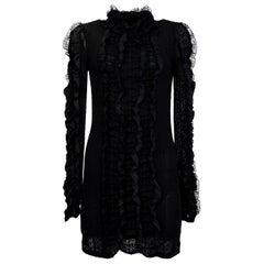 Philosophy Black Lace Ruffle Dress NWT Sz 6