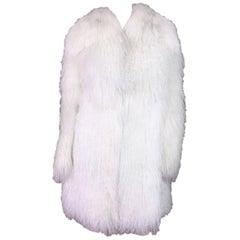 Dolce & Gabbana White Lamb Fox and Eel Fur Coat, F / W 2005