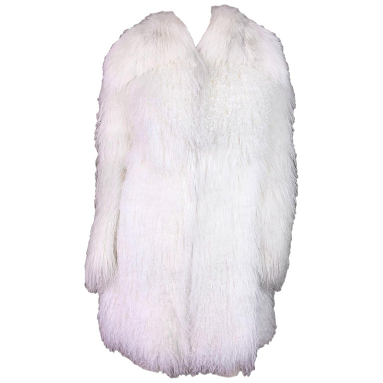 Dolce & Gabbana White Lamb Fox and Eel Fur Coat, F / W 2005