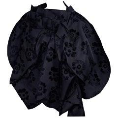 Comme de Garcons Black Floral Jacket