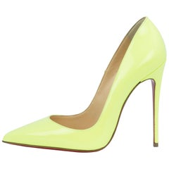 Christian Louboutin Neon Green So Kate Pumps