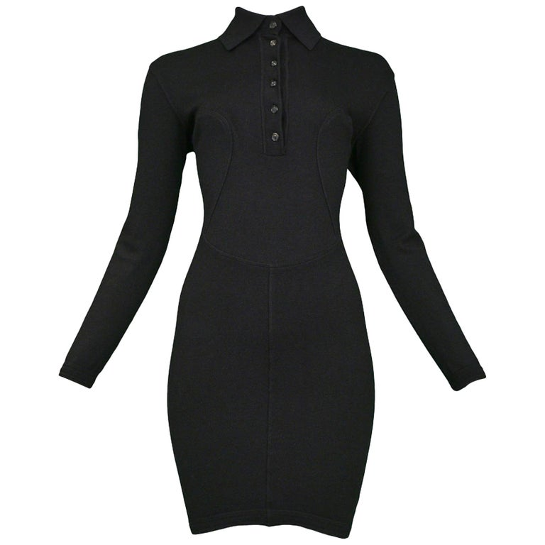 Azzedine Alaia 1991 Bodycon Knit Mini Dress