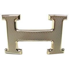 Hermès Buckle H Guilloché Palladium for strap in 32 mm / Excellente Condition