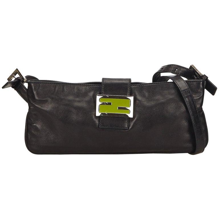 15332ed3fe92 Fendi Black Leather Crossbody Bag at 1stdibs