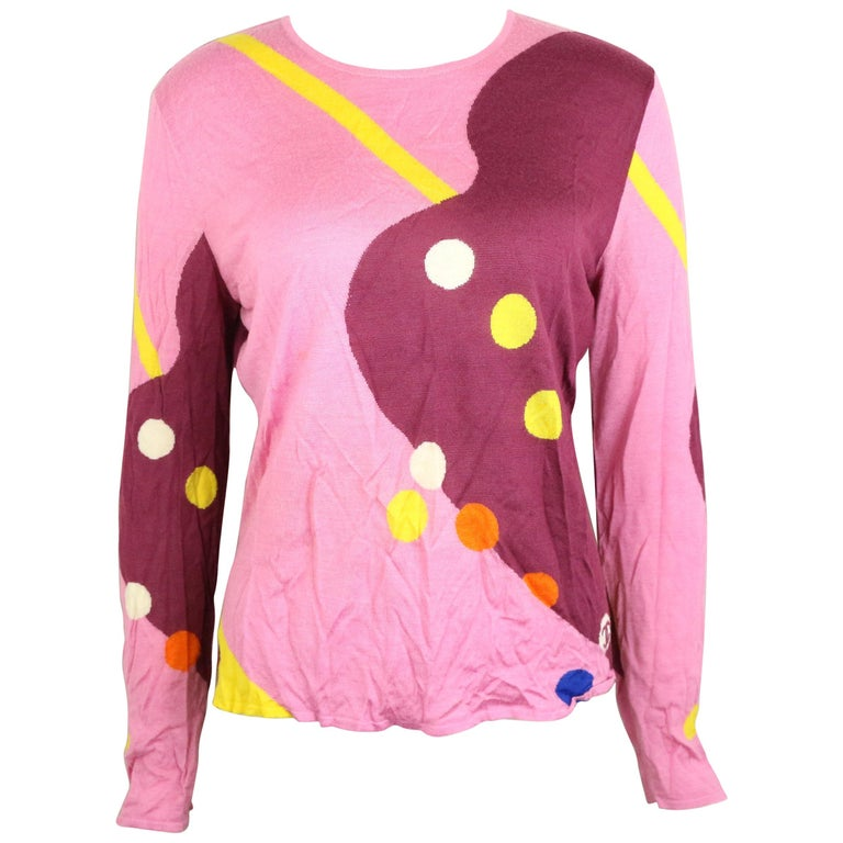 Chanel Colourful Pattern Top  For Sale