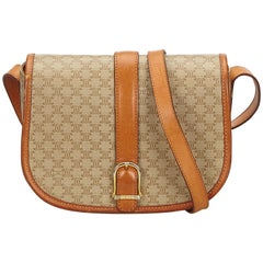Celine Brown Macadam Crossbody Bag