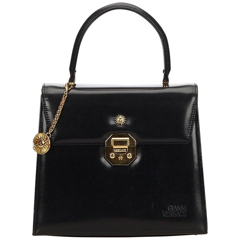Versace Black Leather Handbag