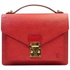 Louis Vuitton Monceau Red Epi Leather BB Bag