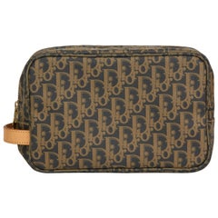 2000's Christian Dior Brown Monogram Coated Canvas Pouch