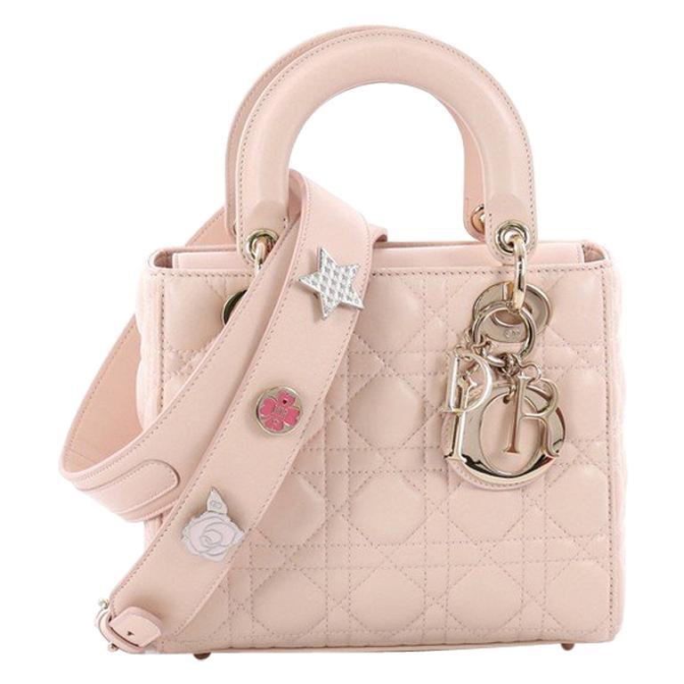 7034f546b1 Christian Dior My Lady Dior Handbag Cannage Quilt Lambskin