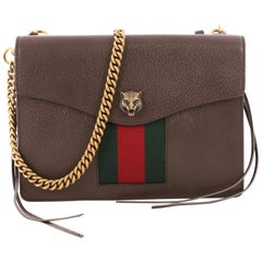 Gucci Animalier Web Chain Shoulder Bag Leather Small