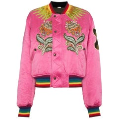 Gucci Reversible Quilted Tiger Bomber Jacket
