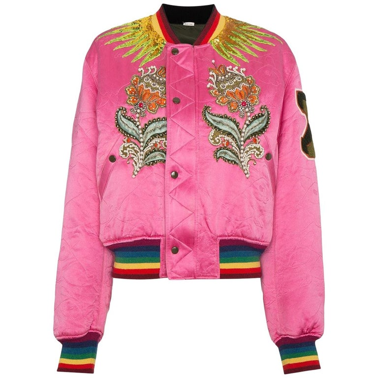 41a335280 Gucci Reversible Quilted Tiger Bomber Jacket For Sale at 1stdibs