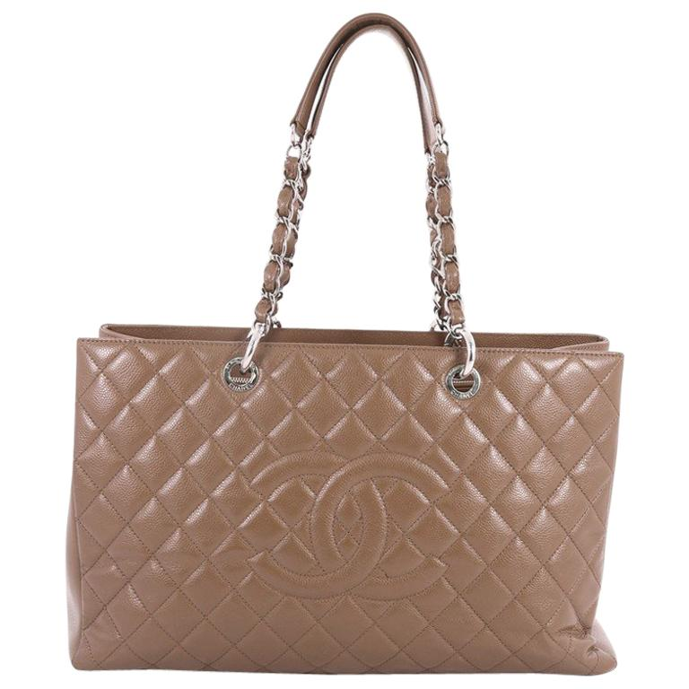 ab65af002771 Chanel Grand Shopping Tote Quilted Caviar XL at 1stdibs