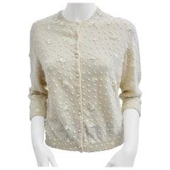 Modette Vienna Off white Cashmere Knit Vest, 1950s