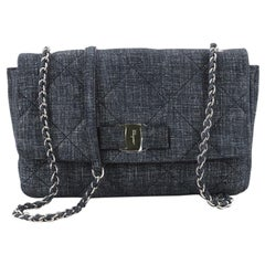 Salvatore Ferragamo Gelly Handbag Quilted Denim Medium