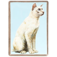 English Enameled Cat Cigarette Case