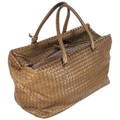 Brown Bottega Veneta Intrecciato Leather Bag
