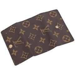 Brown Vintage Louis Vuitton Monogram Key Holder