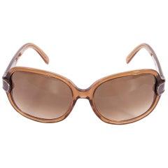 Tan Chloe Transparent Sunglasses