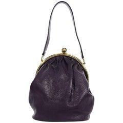 Purple Lulu Guinness Leather Handbag