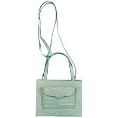 Mint Green Lana Marks Crocodile Small Satchel