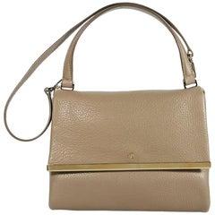 Tan Carolina Herrera Leather Top-Handle Bag