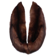 C.1950 Brown Fox Fur Collar 'Shoulder Warmer' Stole