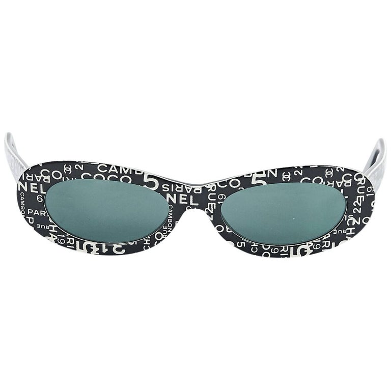 174171d9b8c6 Multicolor Chanel Strass Shield Sunglasses For Sale at 1stdibs