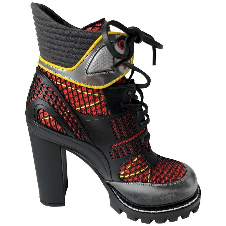 Louis Vuitton Digital Gate Leather Ankle Boot