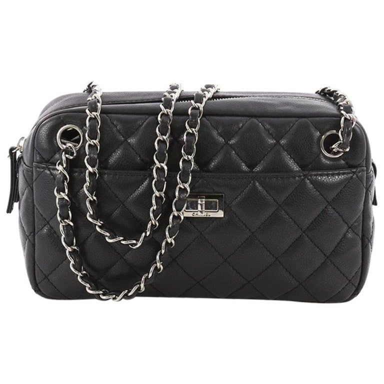 eaeeb72a00c0 Chanel Reissue Camera Bag Quilted Caviar East West At 1stdibs