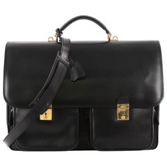 Gucci Vintage Pocket Briefcase Leather Medium