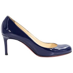 Blue Christian Louboutin Patent Leather Pumps