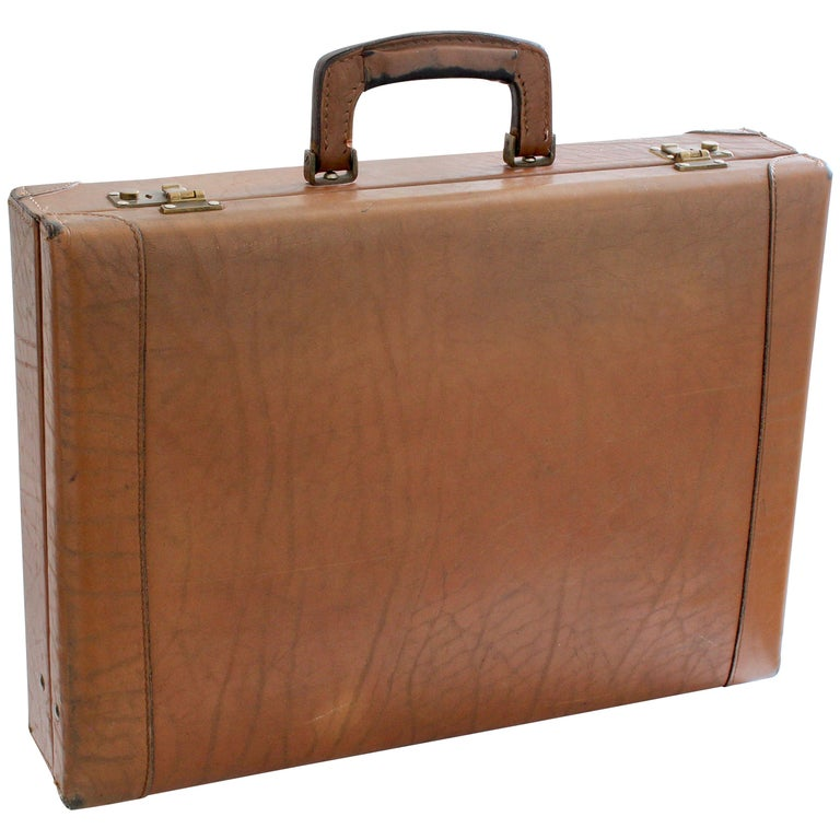 1aa0dc87e Renwick Canada Bullhide Leather Briefcase Business Travel Case 1970s Vintage  For Sale