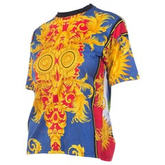 1990s Versace Jeans Couture Miami Collection Baroque T-shirt