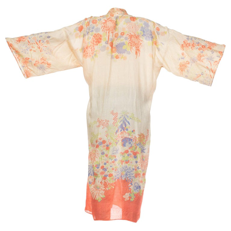 1920s Lightweight Silk Japanese Kimono